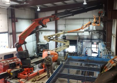 An image of the Canfor Lumber Crane install project